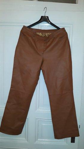 Pantalón de cuero color bronce Cuero