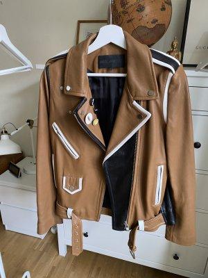 American Retro Veste en cuir multicolore cuir