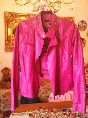 Apart Chaqueta de cuero rosa Cuero
