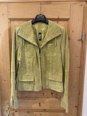 Milestone Leather Jacket lime-green
