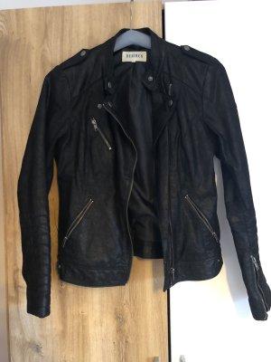 desires Veste en cuir noir