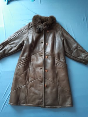 Christ Leather Coat multicolored leather