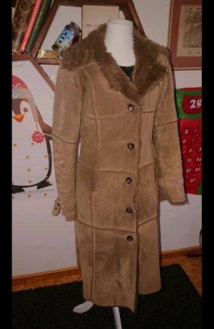 H&M Divided Manteau en cuir marron clair cuir