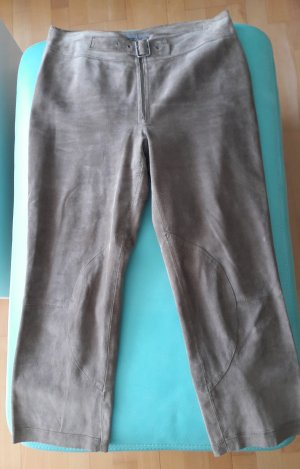 Part two Pantalon en cuir gris brun