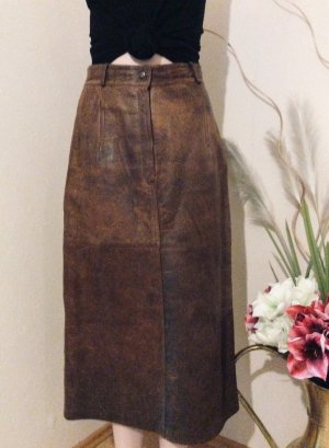 Leather Skirt brown leather