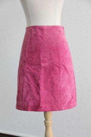 Edited High Waist Skirt pink leather