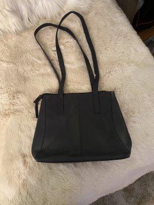 100% Fashion Handtas donkerblauw Leer