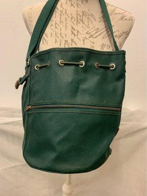 Echtledertasche in dunkelgrün