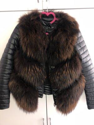 Fur Jacket black-brown
