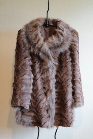 Abrigo de piel color plata-color bronce Pelaje