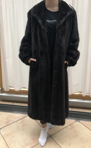 Pelt Coat black brown-dark brown