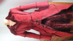 Trussardi Jeans Manteau de fourrure rouge fluo-rouge foncé fourrure