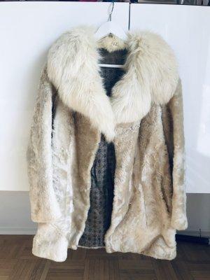 Manteau de fourrure multicolore fourrure