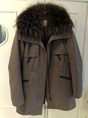 Alexandra Pelt Coat grey brown-dark grey pelt