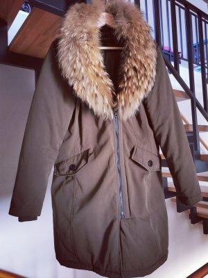 Attentif Paris Manteau d'hiver gris brun