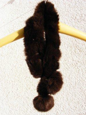 Echtpelz Schal mit Bommel
