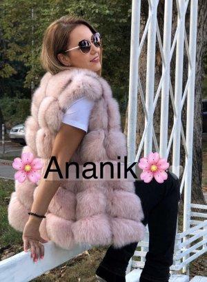 Fur vest pink