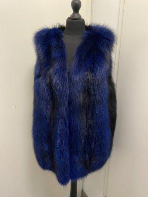 Bontgilet zwart-blauw
