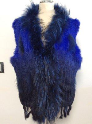 Bontgilet blauw-donkerblauw