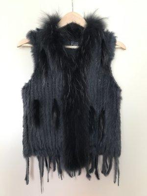 We Love Furs Fur vest anthracite pelt