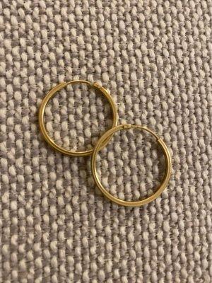 Echtschmuck: Creolen aus Gold 2,5 cm Durchmesser
