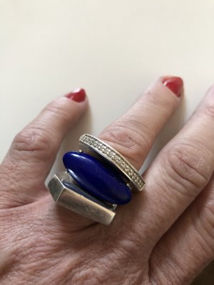 Statement Ring blue