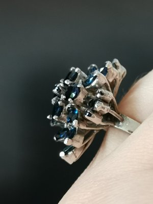 Echtsilber Ring Saphire