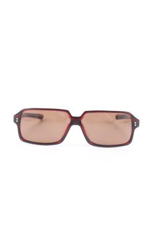 eckige Sonnenbrille schwarz-rot Farbverlauf Casual-Look