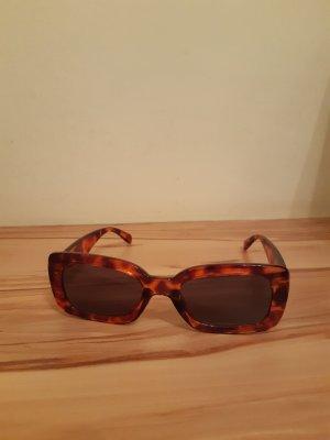 H&M Lunettes de soleil angulaires marron clair-brun