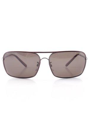 eckige Sonnenbrille bordeauxrot Casual-Look