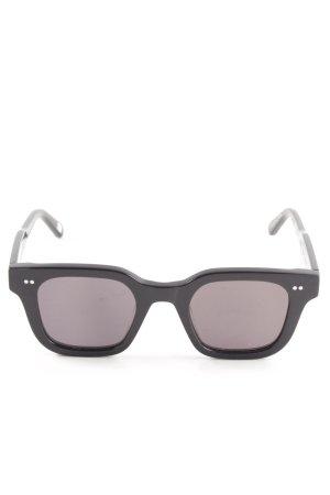 eckige Sonnenbrille schwarz Retro-Look