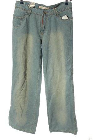 eckored Straight-Leg Jeans blau Casual-Look