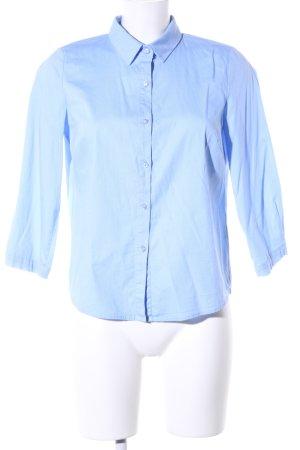 Kurzarmhemd blau Allover-Druck Business-Look