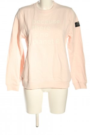 ecoalf Sweat Shirt pink printed lettering casual look