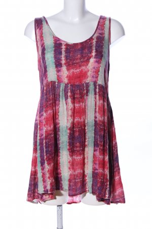 Ecote Blusentop pink-lila abstraktes Muster Casual-Look