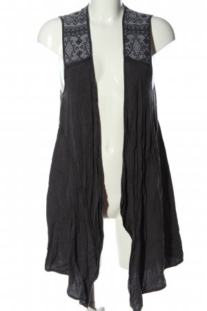 Ecote Long Knitted Vest light grey casual look