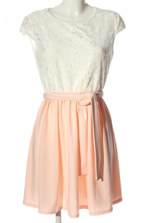 Ecowish Minikleid pink-weiß Elegant