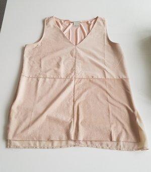 ECRU Top mit Veloursleder rosé creme S 36