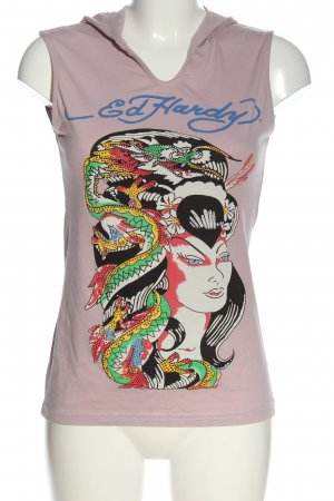 Ed Handy Hooded Shirt themed print casual look
