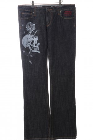 Ed Hardy Boot Cut Jeans Motivdruck Casual-Look