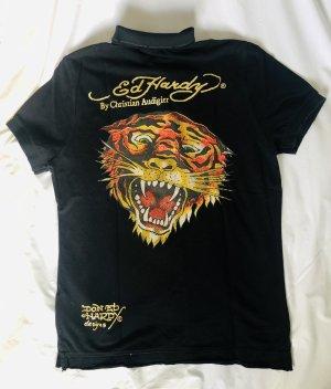 Ed Hardy by Christian Audigier Polo shirt zwart-goud