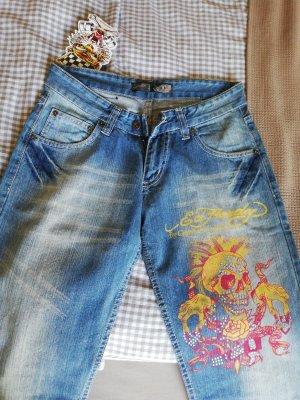 Ed Hardy Jeans bootcut bleu azur