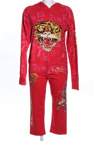 Ed Hardy Twin Set tipo suéter red themed print casual look