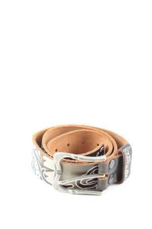 Ed Hardy Leather Belt themed print extravagant style