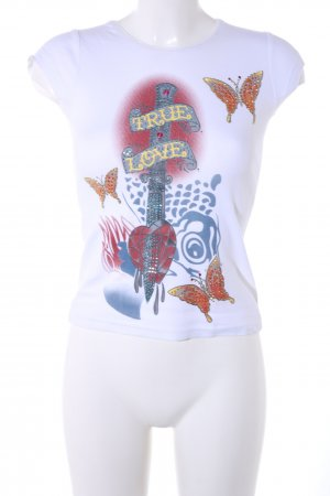 Ed Hardy Print-Shirt Allover-Druck Casual-Look
