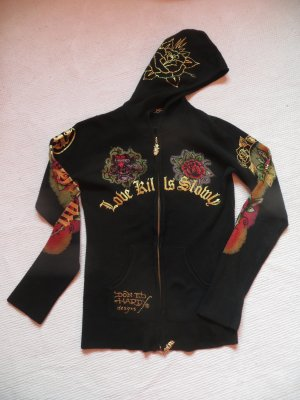 Ed Hardy Hoody black cotton