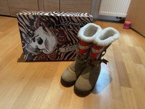 Ed Hardy Winter Boots beige