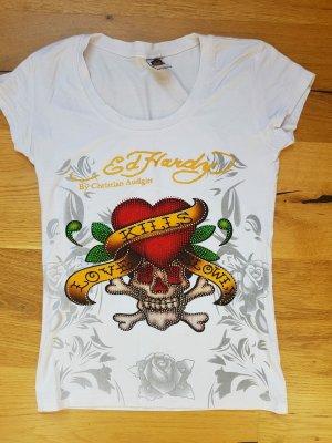 Ed Hardy T-shirt multicolore Cotone