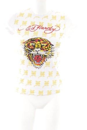 Ed Hardy T-Shirt mehrfarbig Casual-Look