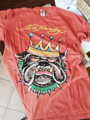 Ed Hardy t-shirt rotbraun M